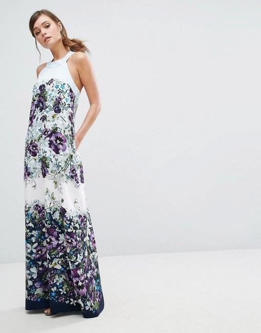 blue purple green Maxi Dress by Ted Baker Image 1