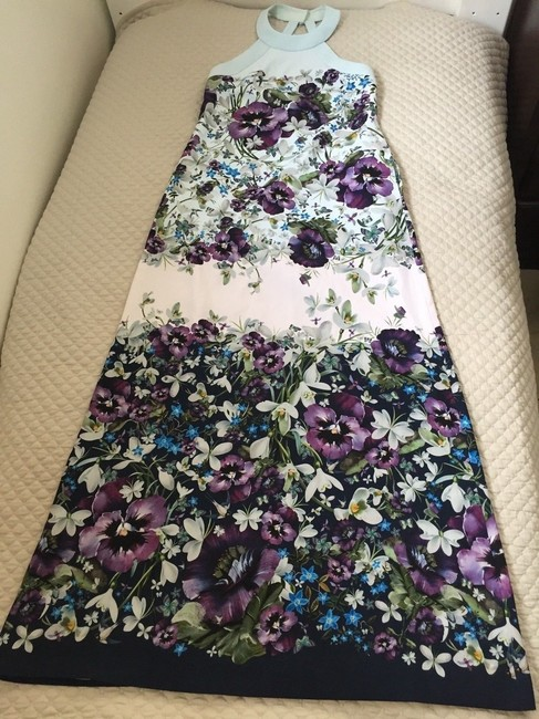 blue purple green Maxi Dress by Ted Baker Image 10
