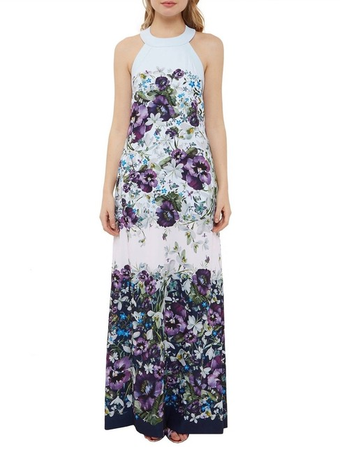 blue purple green Maxi Dress by Ted Baker Image 3