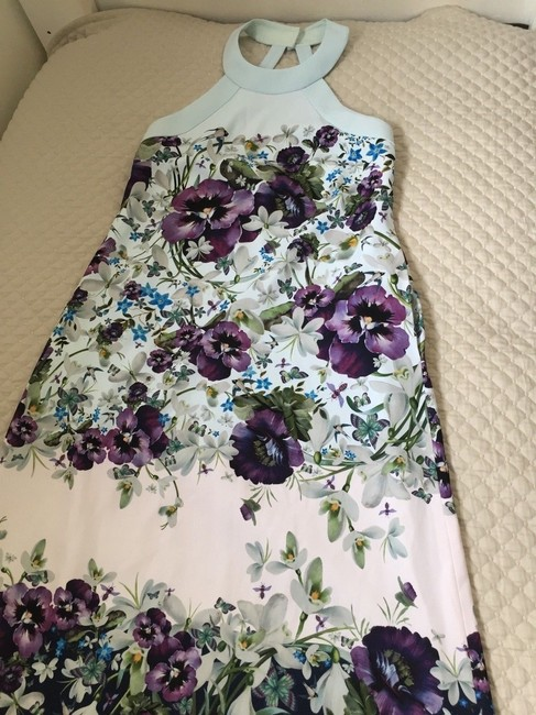 blue purple green Maxi Dress by Ted Baker Image 7
