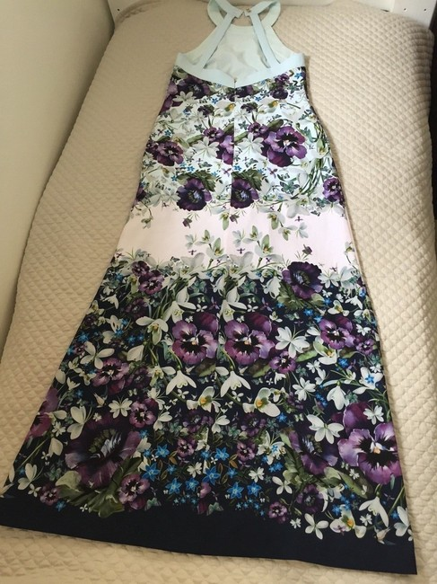 blue purple green Maxi Dress by Ted Baker Image 8