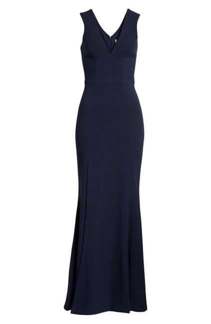 Preload https://img-static.tradesy.com/item/25344856/dress-the-population-midnight-blue-sandra-plunging-crepe-trumpet-gown-long-formal-dress-size-8-m-0-0-650-650.jpg