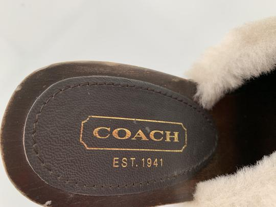 Coach Ivanka Signature Mules Clogs Monogram Brown Black Mules Image 4