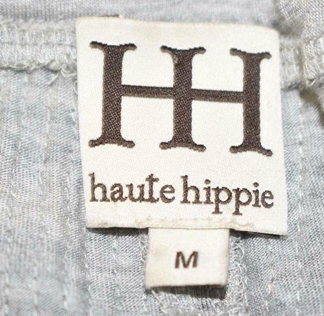 Haute Hippie Sequin Cropped Sweats Joggers Relaxed Pants Silver Image 4