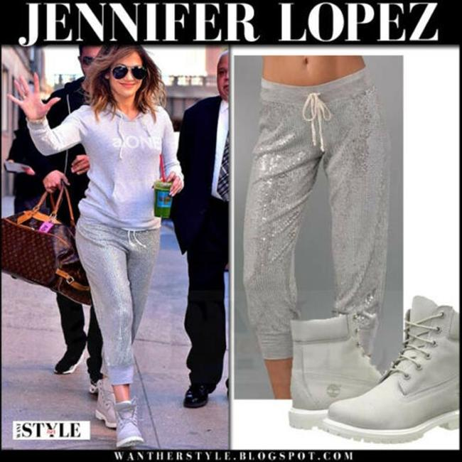 Haute Hippie Sequin Cropped Sweats Joggers Relaxed Pants Silver Image 5