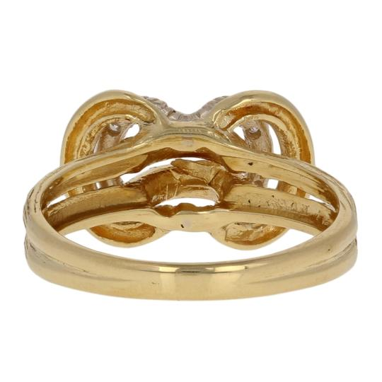 Other Single Cut Diamond-Accented Ring - 18k Yellow Gold Textured E3313 Image 4