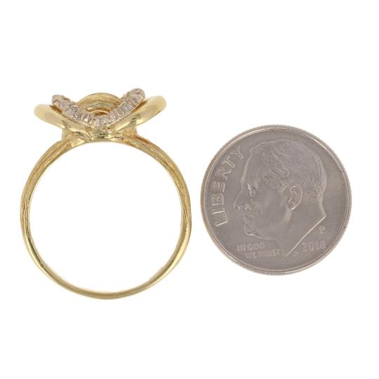 Other Single Cut Diamond-Accented Ring - 18k Yellow Gold Textured E3313 Image 5