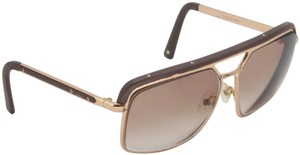 Dior Gold Tone Metal Frame Pilot Unisex 2X Rx Tinted Sunglasses