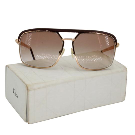 Dior Gold Tone Metal Frame Pilot Unisex 2X Rx Tinted Sunglasses Image 1