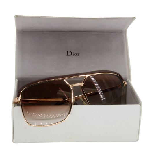 Dior Gold Tone Metal Frame Pilot Unisex 2X Rx Tinted Sunglasses Image 2