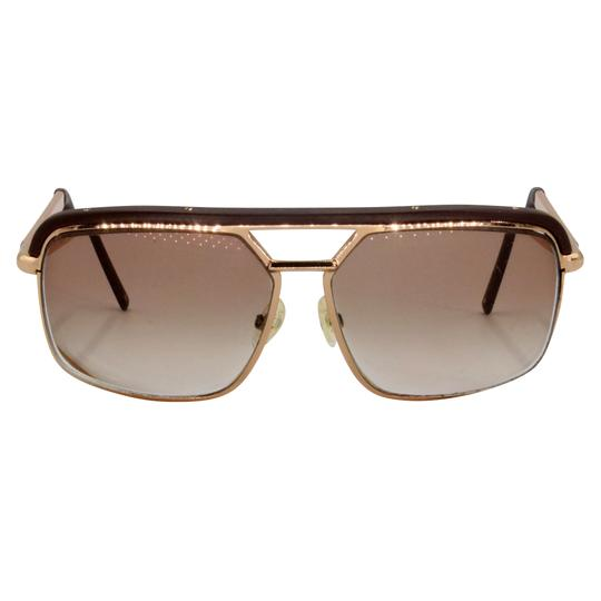 Dior Gold Tone Metal Frame Pilot Unisex 2X Rx Tinted Sunglasses Image 3