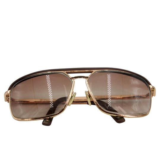 Dior Gold Tone Metal Frame Pilot Unisex 2X Rx Tinted Sunglasses Image 4