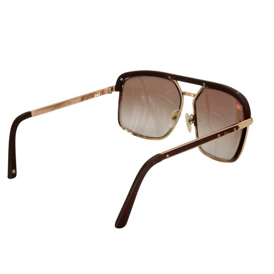 Dior Gold Tone Metal Frame Pilot Unisex 2X Rx Tinted Sunglasses Image 6