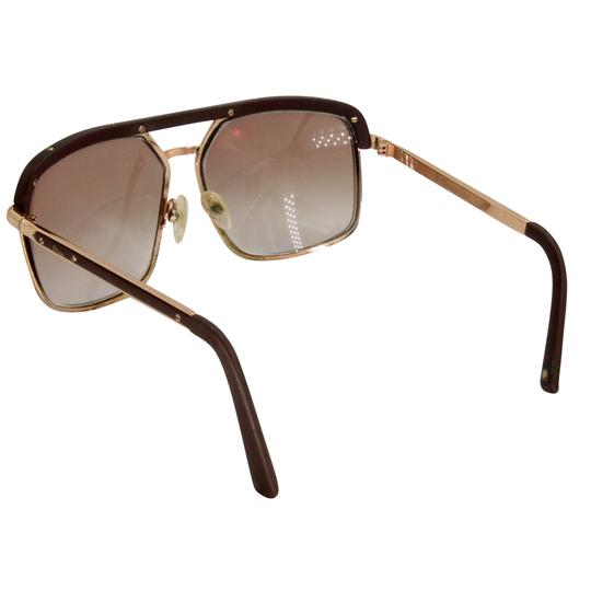 Dior Gold Tone Metal Frame Pilot Unisex 2X Rx Tinted Sunglasses Image 7