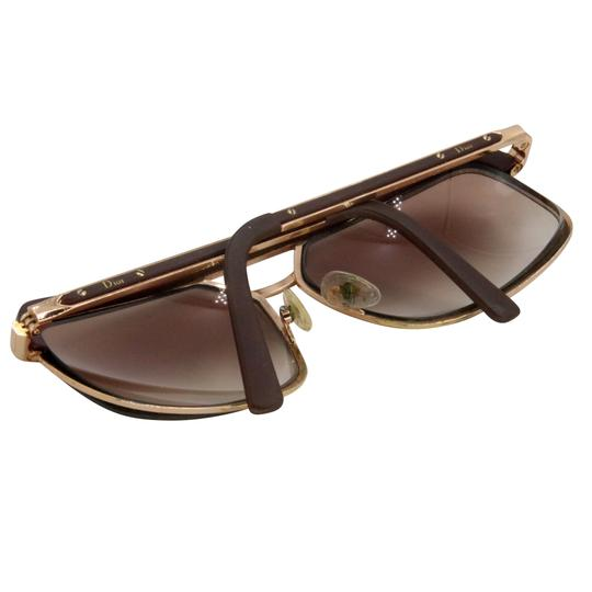 Dior Gold Tone Metal Frame Pilot Unisex 2X Rx Tinted Sunglasses Image 9