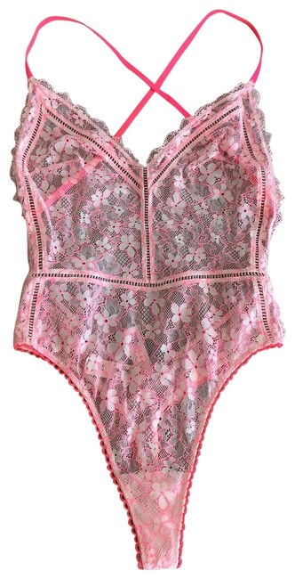Preload https://img-static.tradesy.com/item/25345041/victoria-s-secret-pink-hot-floral-bodysuit-one-piece-bathing-suit-size-4-s-0-1-650-650.jpg