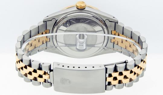 Rolex Mens Datejust Ss/Yellow Gold with Black Diamond Dial Watch Image 10