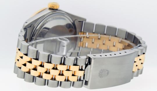 Rolex Mens Datejust Ss/Yellow Gold with Black Diamond Dial Watch Image 2