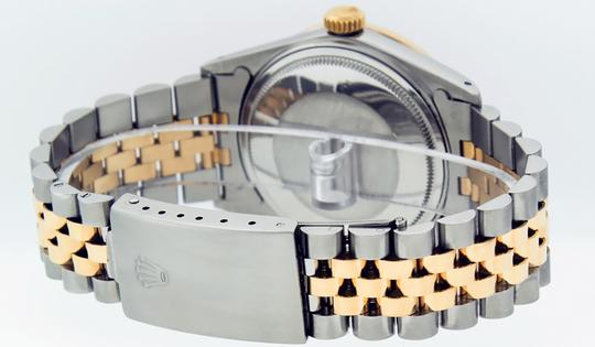 Rolex Mens Datejust Ss/Yellow Gold with Black Diamond Dial Watch Image 6