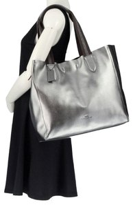 Coach Pebbled Leather Hardware F59388 Tote in Metallic Silver