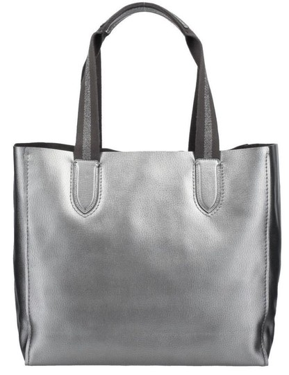 Coach Pebbled Leather Hardware F59388 Tote in Metallic Silver Image 2