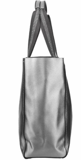 Coach Pebbled Leather Hardware F59388 Tote in Metallic Silver Image 3