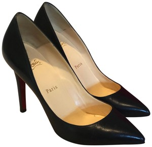 Christian Louboutin Black Kid Leather Pumps