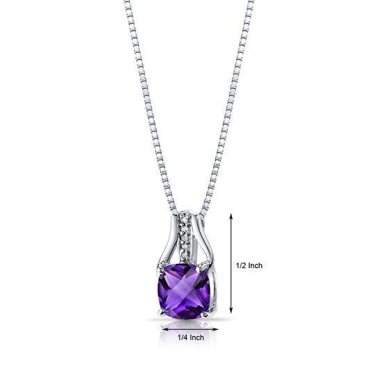 other Amethyst Checkerboard Pendant Image 1