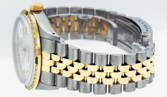 Rolex Mens Datejust Ss/Yellow Gold with MOP Diamond Dial Watch Image 1
