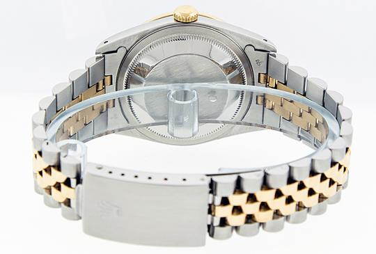 Rolex Mens Datejust Ss/Yellow Gold with MOP Diamond Dial Watch Image 2