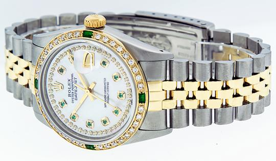 Rolex Mens Datejust Ss/Yellow Gold with MOP Diamond Dial Watch Image 3