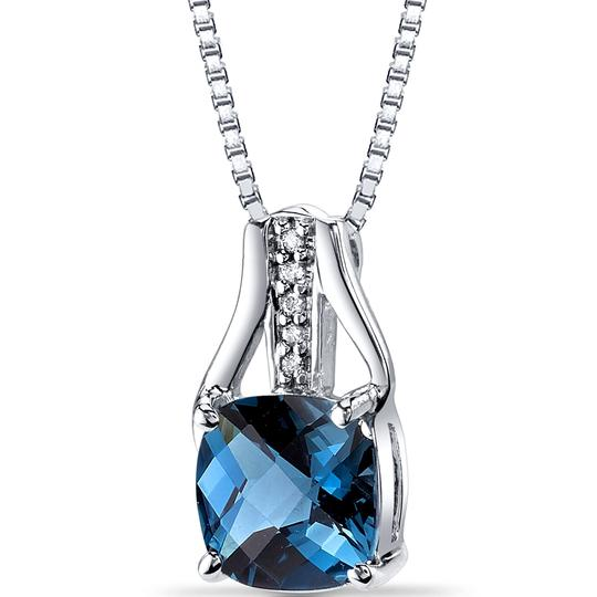 other Topaz Checkerboard Pendant Image 2