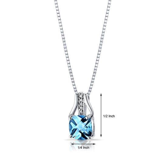 other Topaz Checkerboard Pendant Image 1