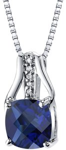 other Sapphire Checkerboard Pendant