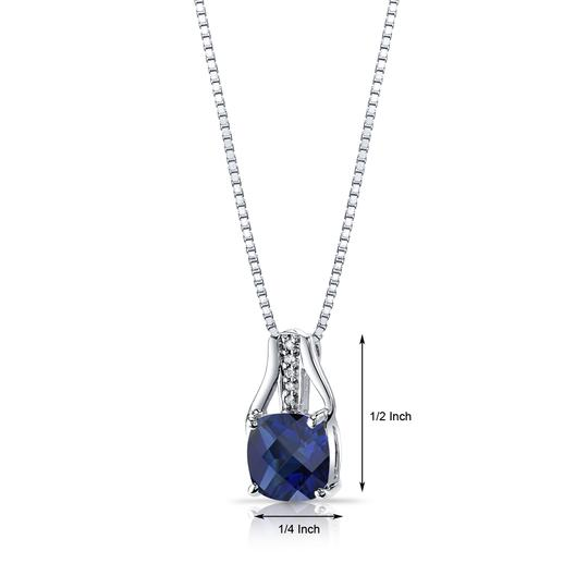 other Sapphire Checkerboard Pendant Image 1