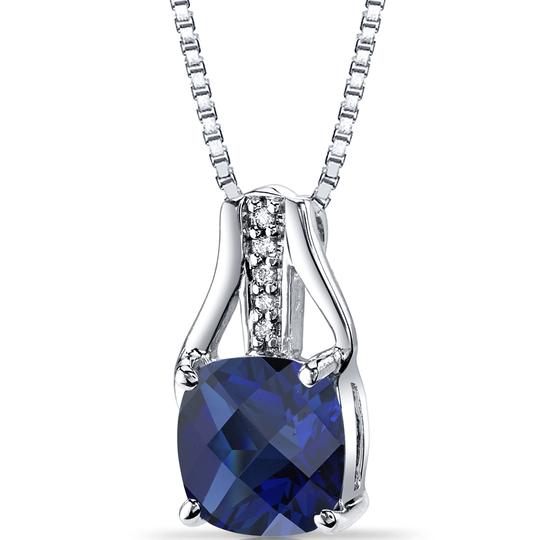 other Sapphire Checkerboard Pendant Image 2