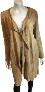 Scoop NYC Suede Kimono Suede TAN Leather Jacket