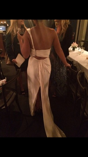Ines Di Santo Cream/Ivory Silk Two Piece Gown Destination Wedding Dress Size 8 (M) Image 2