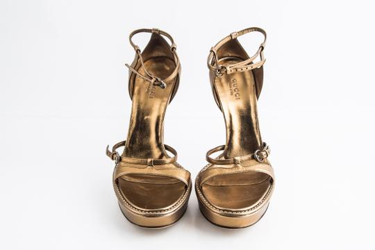Gucci Gold Sandals Image 1