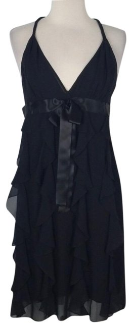Preload https://img-static.tradesy.com/item/25345286/bcbgmaxazria-black-silk-mid-length-cocktail-dress-size-8-m-0-1-650-650.jpg