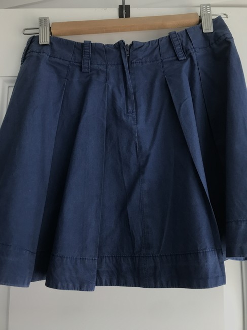 Claudie Pierlot French Sailor Pleated Preppy Mini Skirt Navy Image 1
