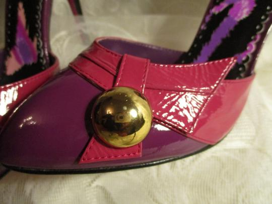 Betsey Johnson Patent Leather Ankle Strap Stiletto Onm 007 pink & purple Pumps Image 7