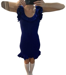 Boutique Moschino short dress Blue Winter Summer Spring Fall on Tradesy