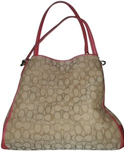 Coach Tote in Red and tan