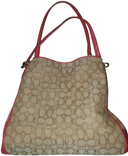 Preload https://img-static.tradesy.com/item/25345313/coach-phoebe-red-and-tan-tote-0-1-540-540.jpg