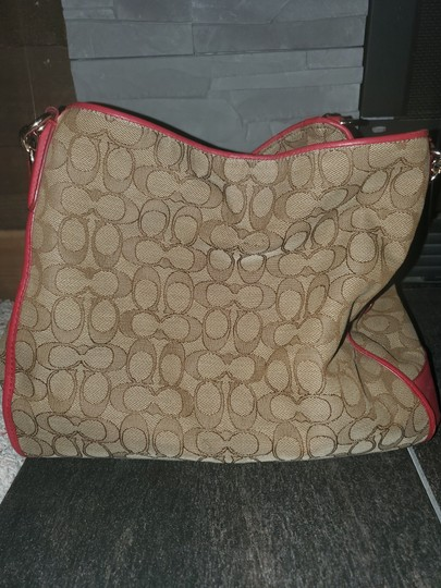 Coach Tote in Red and tan Image 1