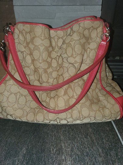 Coach Tote in Red and tan Image 2