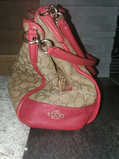 Coach Tote in Red and tan Image 3