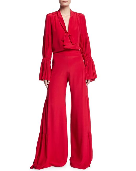 Item - Red XS Talley Built-in Belt Pants Size 2 (XS, 26)