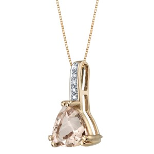other Morganite Trillion Pendant